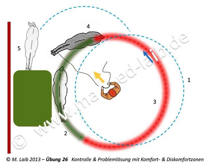 TGT Übung 26   Kontrolle & Problemlösung mit Komfort- & Diskomfortzonen - Grafik aus meinem Kurshandbuch © Manfred Laib