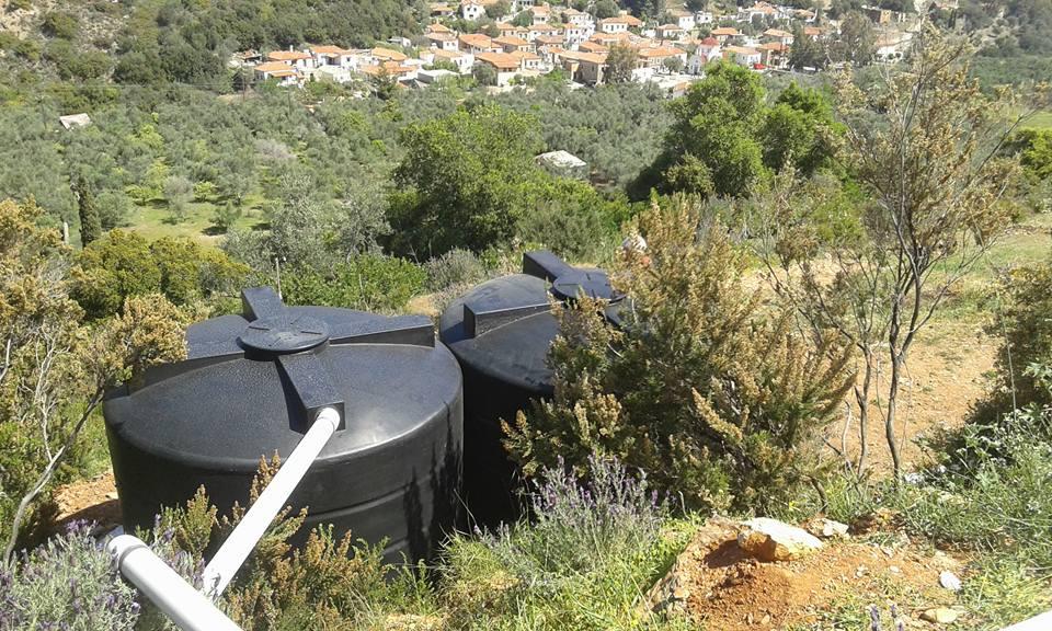 weitere 10.000 ltr Wasser (auch Regen) können nun gespeichert werden - © Giannis Derziotis Γιαννης Δερζιωτηςs