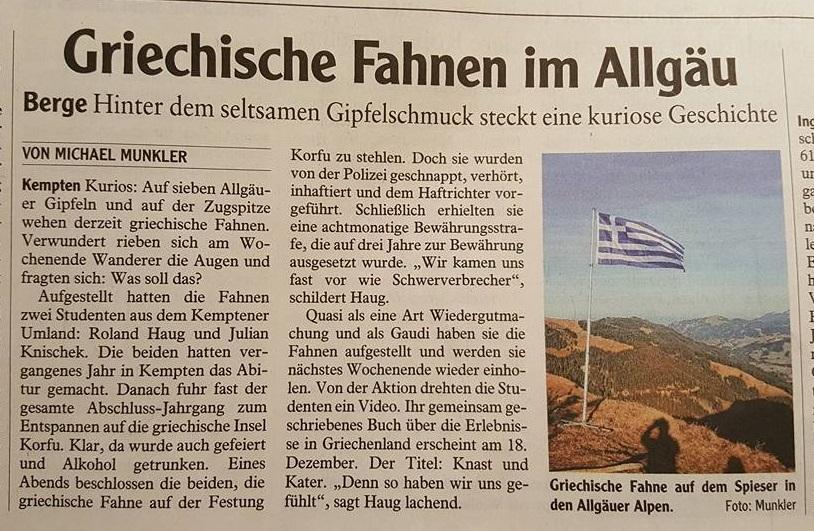 Dienstagsausgabe Allgäuer Zeitung & Donauwörther Zeitung vom 06.12.2016 LESEN: Super Erlebnis - schöne Geschichte - klasse Aktion !!