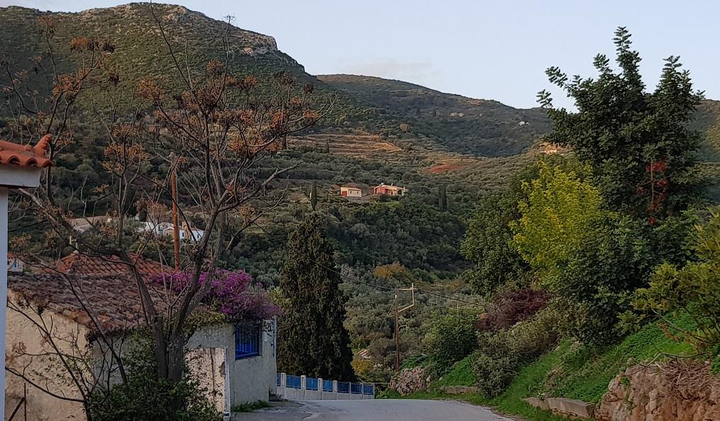 November 17 - Blick von Nomia zu unserem Haus