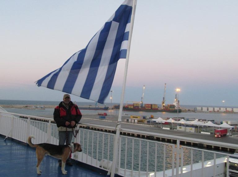 auf der Superfast 2 Piraeus 1 vor der Abfahrt in Bari IT