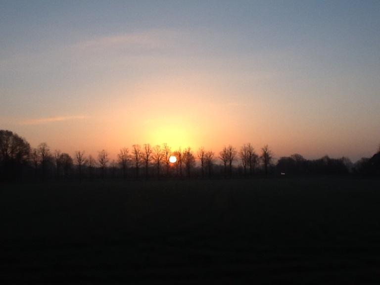 Sonnenaufgang heute 24.03.2014 im Münsterland, NRW, Deutschland (Foto Otti Schöttner)