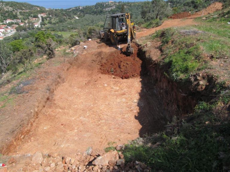 Baugrube für den unteren Teil des Hauses
