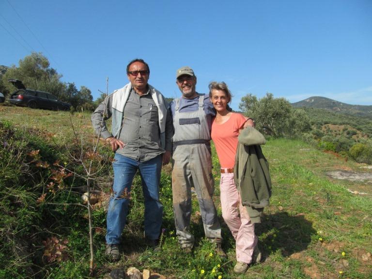 Kiriakos unser Baumeister und wir (gemeinsam mit Lefteris) werden ein gutes Team