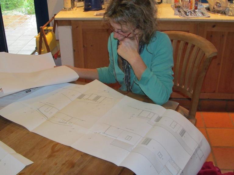 letzte Kontrolle und dann ab nach Monemvasia zum Abschlussgespräch mit der Architektin Katharina