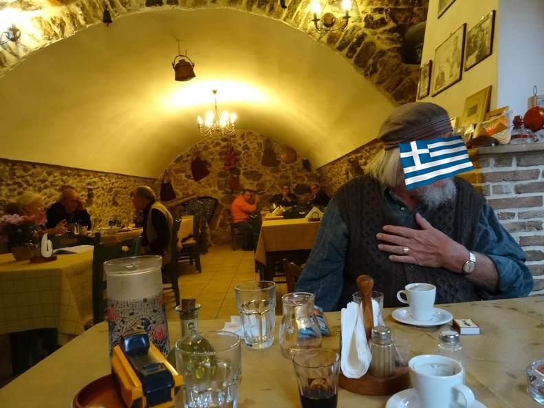 Taverne PYROSTIA zur Familie GRIGORAKOY ELENI und  Sohn (Willy mag nicht im Internet gezeigt werden, das respektieren wir)