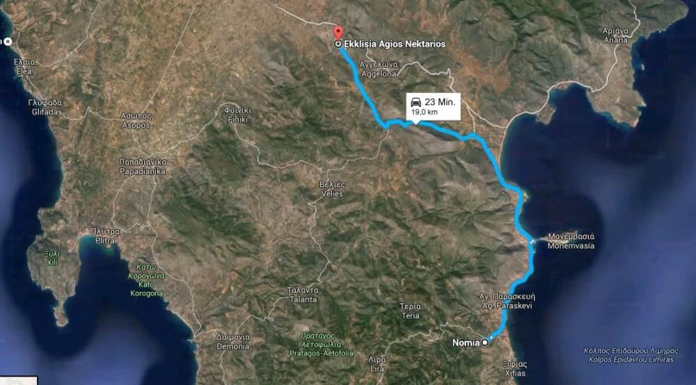 heute ging es von Nomia nach Ekklisia Aigos Nektarios
