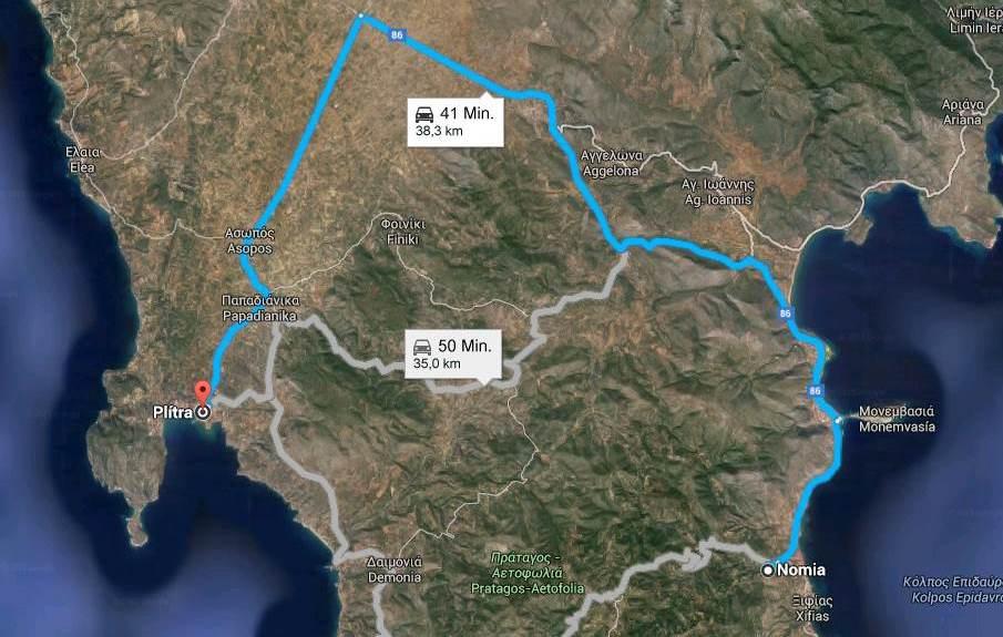 Google Maps Koordinaten 36.696771, 22.839884