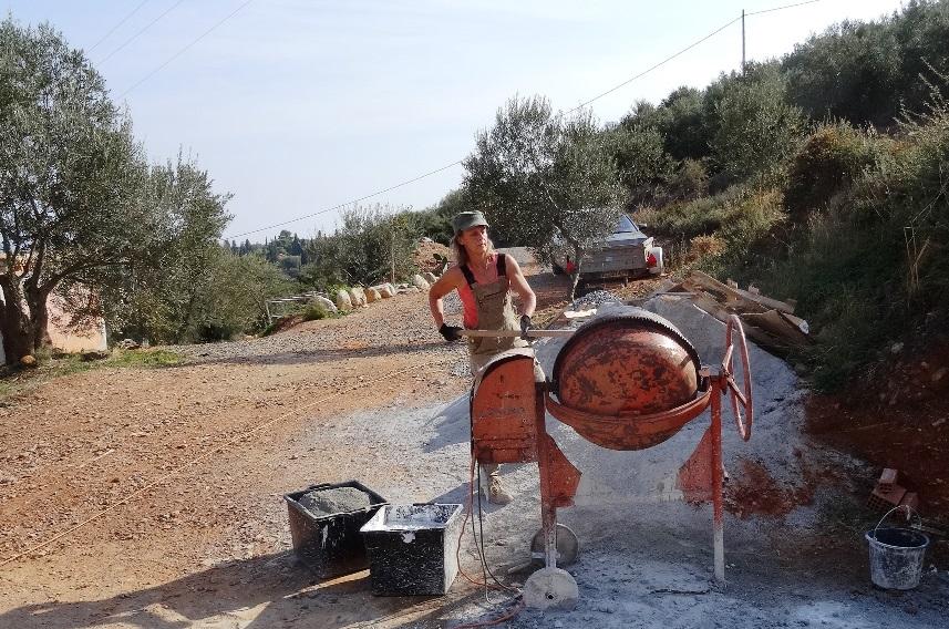 Schaufel für Schaufel; 16 Sand, 4 Kalk, 2 Zement