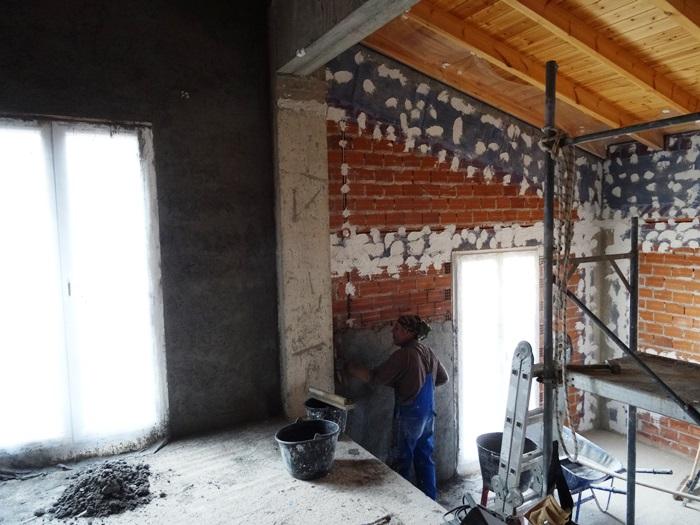 der Giebel des Atelier und Wohnszimmer
