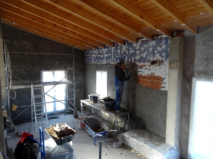 die letzte Wand am Nachmittag im Erdgeschoss