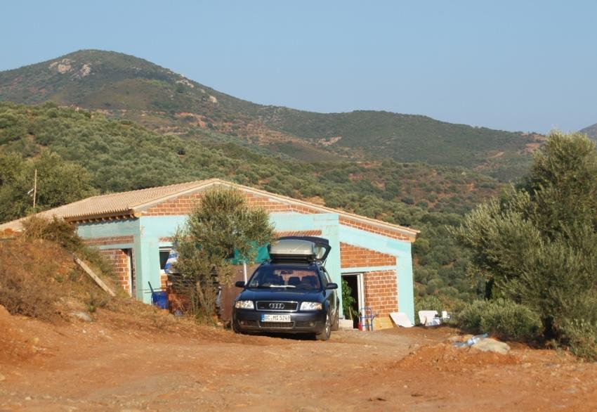Sept 2014 - die neu gebaute Zufahrt