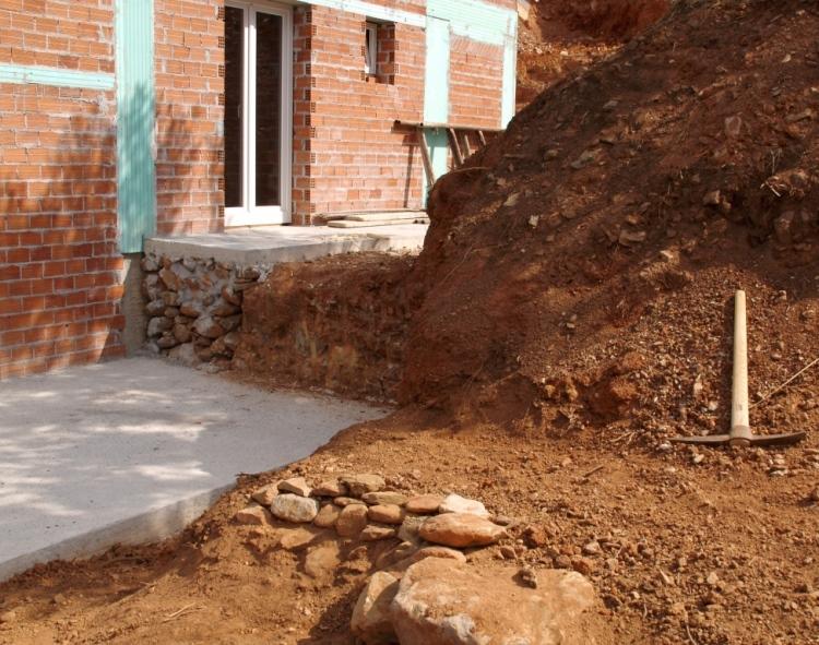 Sep 2014 - Wohnzimmer und Atelier Terrassen - die Gestaltung hat begonnen