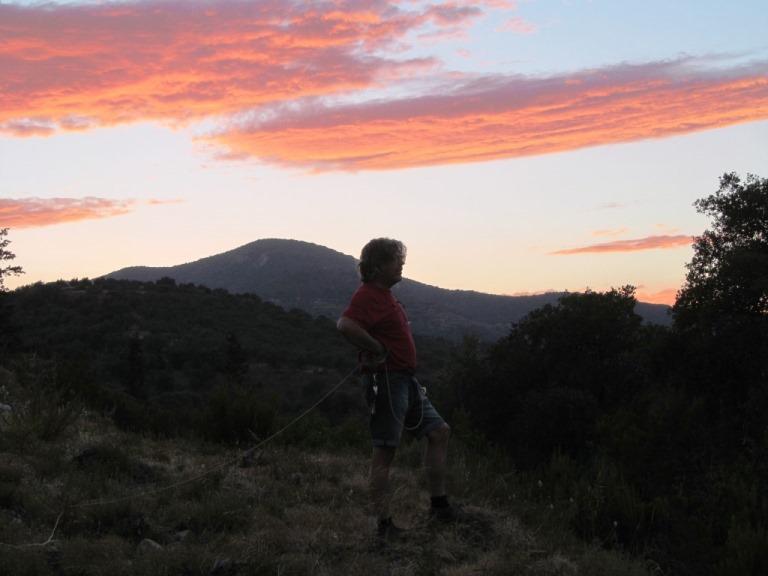 nach dem Sonnenuntergang in den Bergen Lakoniens von unserem Grundstück KADOWLOS