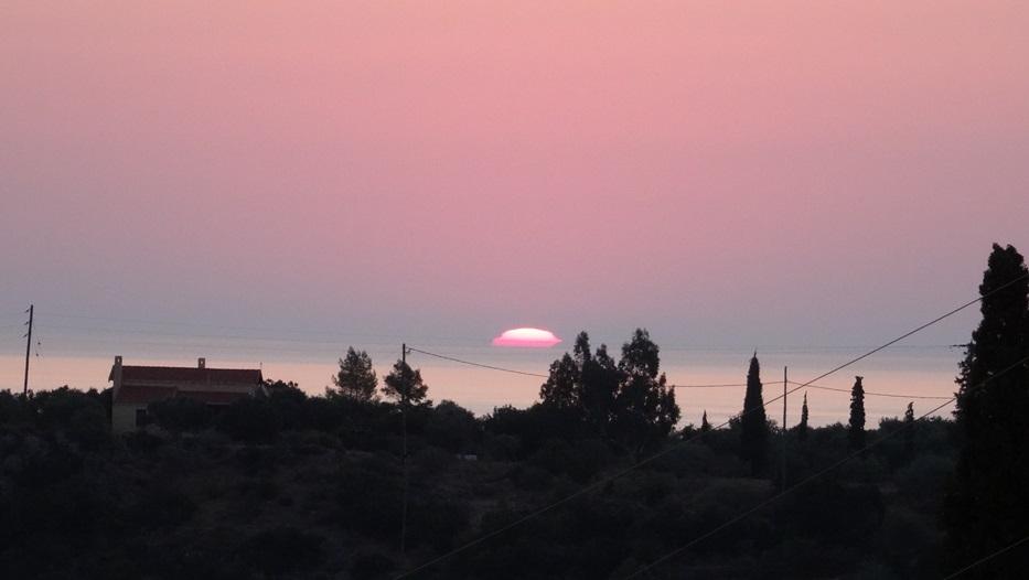 Blick vom Haus, am frühen Morgen des 05. September 2015