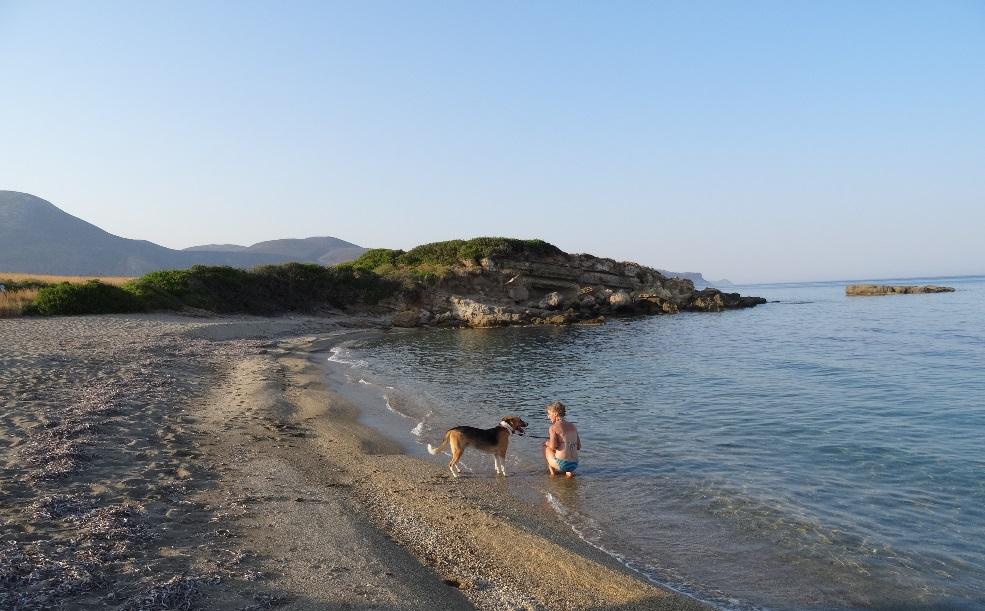 ganz in der Nähe unseres Hauses ist dieser Strand an welchen kaum einer kommt. Man muss dazu vom Parkplatz nur 50 Meter gehen !!!