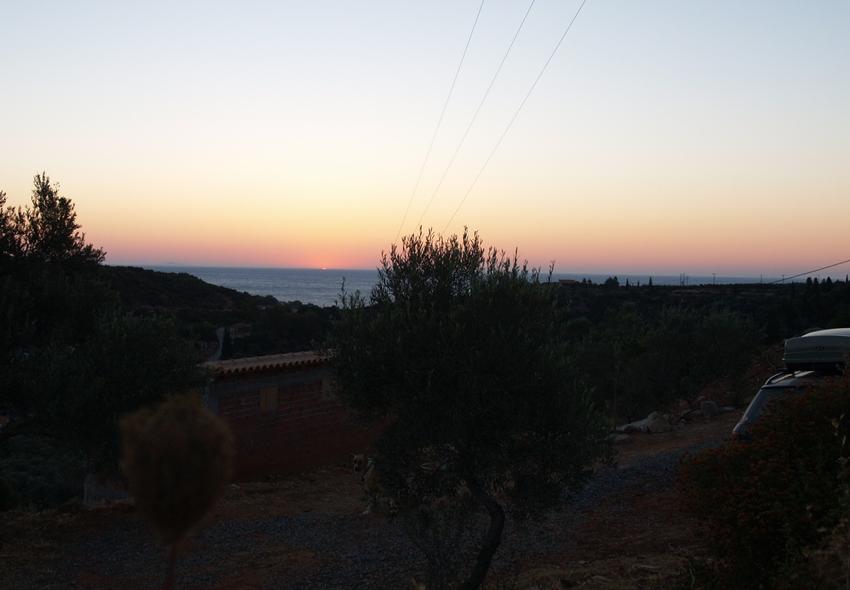 die frühe Morgenstimmung am Abfahrtstag