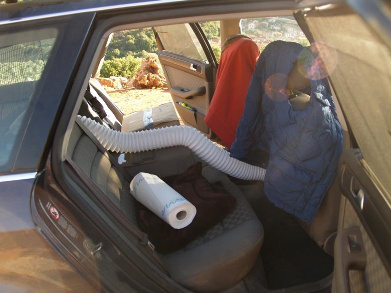 Climatronik wird ins Heck verlegt, damit Sam die erwartete heiße Fahrt entspannt übersteht
