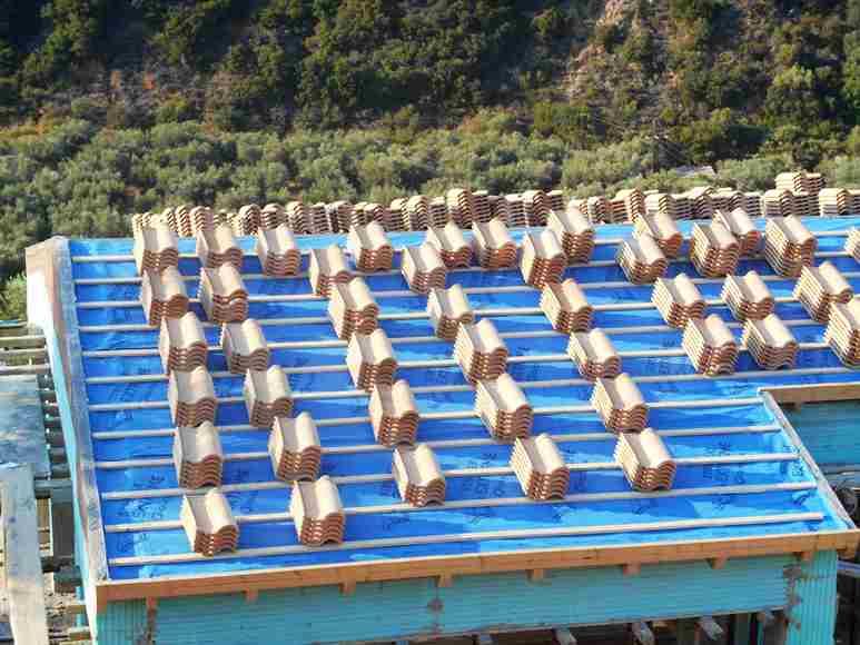Montag Abend, alle Dachziegel sind bereit