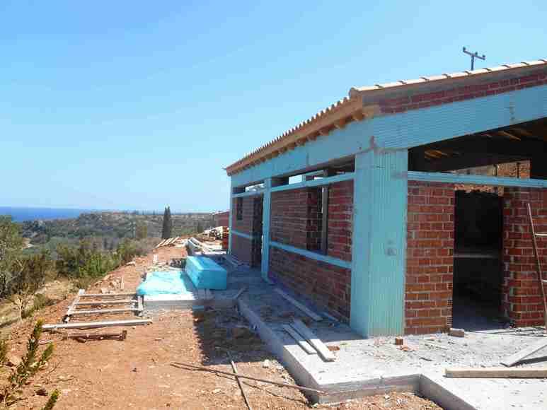 Terrassenbereich Wohnen Essen Küche mit Blick auf Nomia und zum Meer