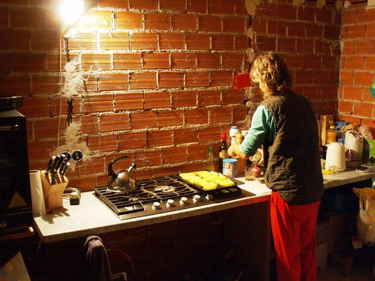 die Baustellen Wohnküche und Silke ermöglichen täglich leckeres Essen
