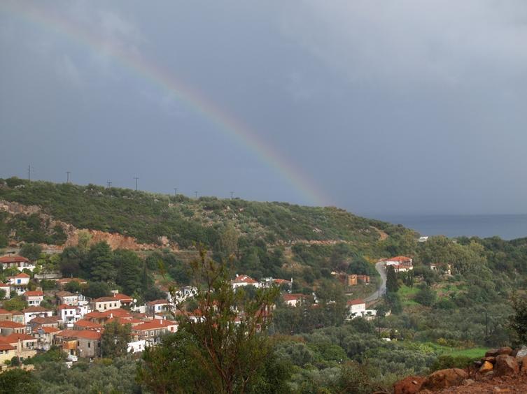 Regenbogen über Nomia