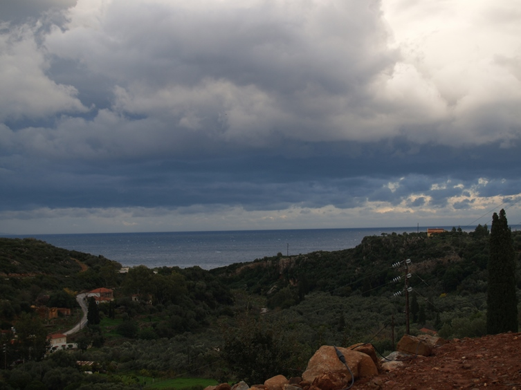 fleißiger Wind treibt die Wolken weg, morgen kommt wieder die Sonne