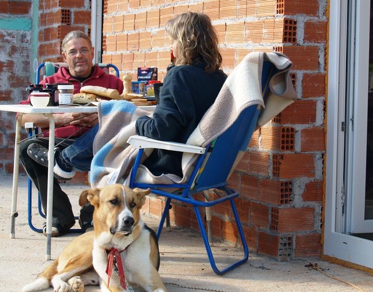 17. Januar 2015 - Frühstück bei 20° in der Sonne vor dem Haus