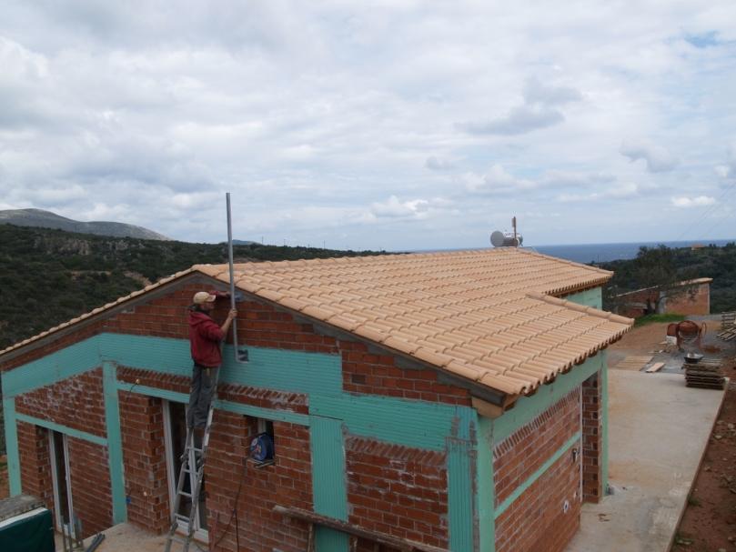 Die Befestigung für Antennen zur Verbindung in die große weite Welt