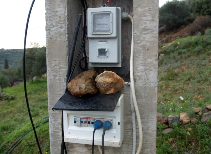 Derzeitiger Baustrom Anschluss, Zähler ablesen und zur Stromgesellschaft fahren