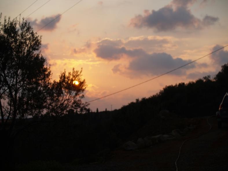 Früh am Morgen wenn die Sonne auf geht