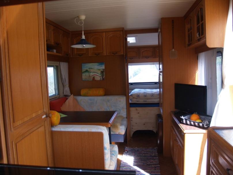 Silke räumte und reinigte den Wohnwagen, so kann man jederzeit wieder Anreisen
